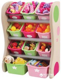 Органайзер с разноцветными ящиками Step 2 Fun Time Room Organizer Розовый/Салатовый (733538827497)