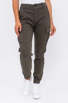 Стильні джинси карго - колір хакі, S (36) S (36)