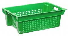 Ящик пластиковый конусный для продуктов Полимерцентр 600х400х200 мм Зеленый (N6420-3)