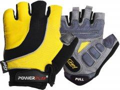 Велоперчатки PowerPlay 5037C M Yellow (5037C_M_Yellow)