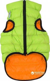 Двусторонняя курточка для собак Airy Vest для маленьких собак XS 25 Оранжево-салатовая (1598)