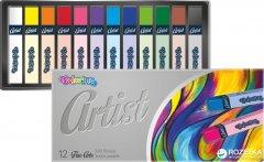 Пастель сухая Colorino Artist квадратная в пластиковом контейнере 12 цветов (65238PTR)