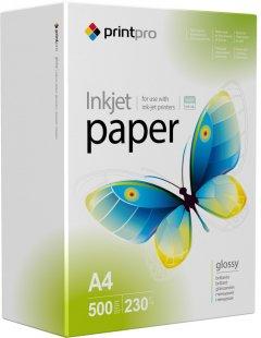 Фотобумага PrintPro 230г/м A4 500 л Глянцевая (PGE230500A4)