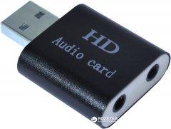 Адаптер Dynamode USB C-Media 108 7.1 каналов, алюминий Черная (USB-SOUND7-ALU black)