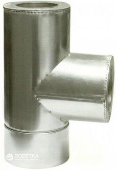 Дымоход Canada 87° с термоизоляцией ø120/180 мм оцинкованная нержавеющая сталь 1 мм (120/180ТК87М304-1КО)