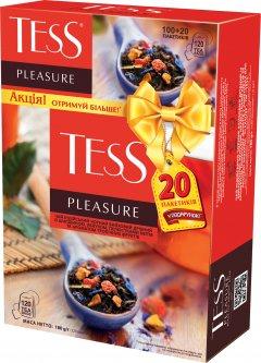 Чай черный пакетированный TESS Pleasure 100 пакетиков x 1.5 г + 20 пакетиков в подарок (4823096801667)
