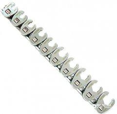 Набор ключей разрезных односторонних Toptul 10-19 мм 10 предметов (GAAR1001)
