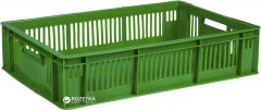 Ящик пластиковый перфорированный Полимерцентр 600х400х140 мм Зеленый (ST6414R-3-GR)
