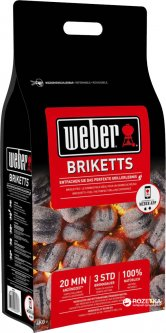 Угольные брикеты Weber 4 кг (17590)