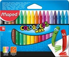 Карандаши восковые Maped Color Peps Wax Crayons 18 цветов (MP.861012)