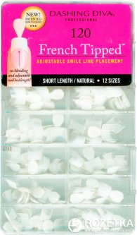 Типсы для моделирования френча Dashing Diva French Tipped Short Natural 120 шт (096100082145)