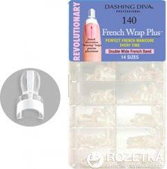 Типсы для френча Dashing Diva French Wrap Plus Thick White 140 шт (096100084392)