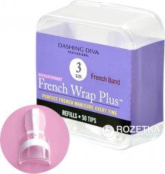 Типсы для френча Dashing Diva French Wrap Plus Thin White 3 размер 50 шт (096100062086)