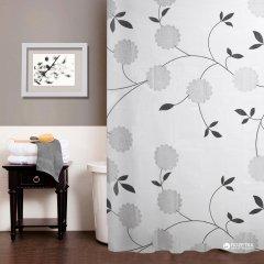 Шторка для ванной Мій Дім Beautiful flowers 180х180 cм NJ10107