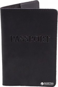 Обложка для паспорта DNK Leather DNK-Pasport-Hcol.J Черная (2000000312279)