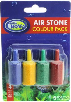 Воздушный распылитель для компрессора Aqua Nova AS-1 Colour Pack 15 х 25 мм 4 шт