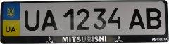 Рамка номера пластиковая с объемными буквами Митсубиси 2 шт (24-012)