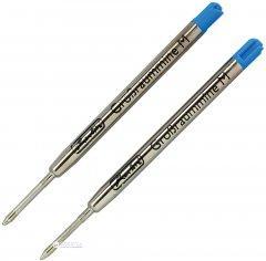 Набор стержней шариковых Herlitz Profisize G2 Синих 1 мм 2 шт (8608804)