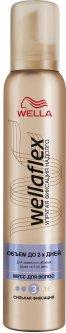 Мусс для волос Wella Wellaflex Объём до 2-х дней Сильная фиксация 200 мл (4056800674398)