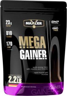 Гейнер Maxler Mega Gainer 1 кг Клубника (4014871027703)