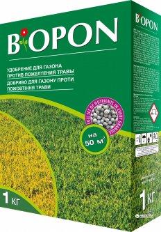 Удобрение гранулированное BIOPON для газона против пожелтения 1 кг (5904517062405)