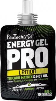 Предтренировочный комплекс Biotech Energy Gel Pro 60 г 1/24 -Лимон (5999076205240)