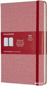 Записная книга Moleskine Blend 17 13 х 21 см 240 страниц в линейку Красный Канва (8055002855990)
