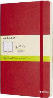Записная книга Moleskine Classic 13 х 21 см 192 страницы без линовки Красная Мягкая обложка (8055002854658)