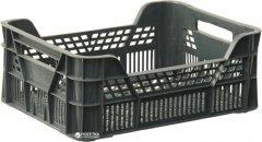 Ящик пластиковый перфорированный Полимерцентр 400х300х155 мм Черный (ST4315R-3.1-BK)