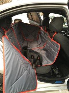 Гамак для перевозки собак в автомобиле ТрендБай 3054 Доггин 2X Серый (2000000001067)