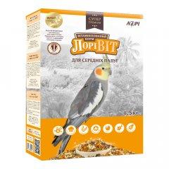 Корм для средних попугаев Лорі ЛоріВит 1.5 кг (4820033200361)