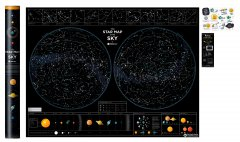 Скретч-карта звездного неба 1DEA.me Star map of the sky (SMSen)