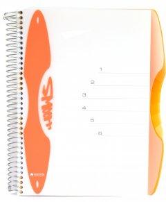 Блокнот Mintra Smooth A6 в линейку 150 листов Оранжевый (982244)