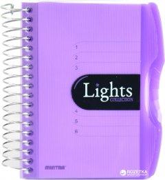Блокнот Mintra Lights A6 в линейку 150 листов Фиолетовый (982291)