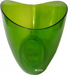 Вазон Lamela Луна фигурный 35х15х15 см Зелено-прозрачный (633-16)