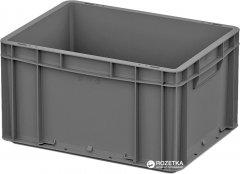 Ящик пластиковый для продуктов iPlast ЕС 400х300х220 мм Серый (12.3100.91 (ЕС-4322.2))