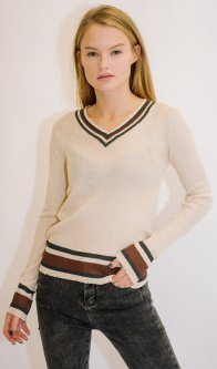 Пуловер Remix 18031 One Size Бежевый (2950006444224)