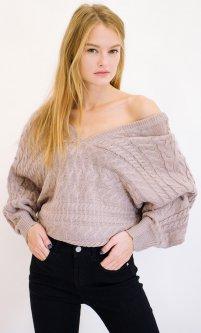 Пуловер Remix 7791 One Size Бежевый (2950006324946)