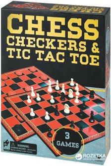 Набор настольных игр Spin Master Games Шахматы шашки крестики-нолики (SM98377/6033146)