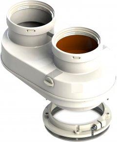 Двойной универсальный комплект соединительных элементов GROPPALLI для традиционных котлов 60/100 - 80/80 мм (BB11259)