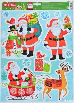 Наклейки новогодние Новогодько (YES! Fun) 801083 41 х 29 см (5056137106745)