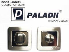 Накладка с поворотником Paladii WC дверная квадратная сатен-хром (ПР125)