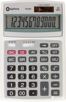 Калькулятор электронный Optima 12-разрядный (O75530)
