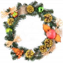 Венок Новогодько (YES! Fun) 903595 Зимний лес 35 см Зеленый (4820079035958)