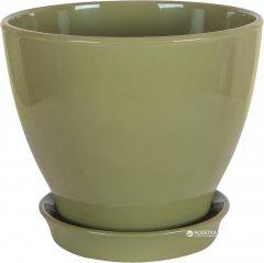 Вазон для растений CERAMIKA DESIGN Ксения КС 5 глянец 27 см Оливковый (кц-3758)