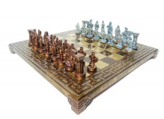 Шахматы Manopoulos Спартанский воин 28х28 см (S16BMBRO)