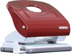 Дырокол металлический с линейкой Norma 30 листов Красный (8591662434613)
