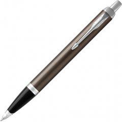 Ручка шариковая Parker IM 17 Dark Espresso CT BP Синяя Темно-серый корпус (22 332)