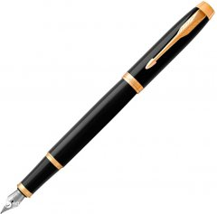 Ручка перьевая Parker IM 17 Black GT FP F Синяя Черный корпус (22 011)