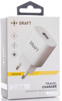 Зарядное устройство DRAFT 4210D-USB 5V 2A White (145805/152822)